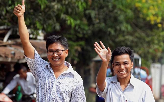 Suite et fin : libération des journalistes birmans