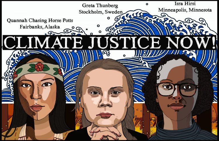 """Climate Justice Now!"" (art by Nissa Tzun) Vince Reinhart / Flickr Cc"