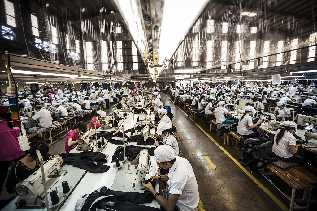 Workers at a garment factory in the outskirt of HCM City, Viet Nam. © ILO / Aaron Santos CLEMENT