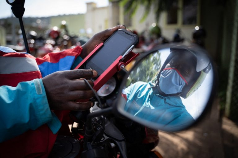 The proliferation of health apps and increasing mobile connectivity appear to be signs of a coming boom in the e-health industry in Africa (here, in Kigali, Rwanda, in May 2020)